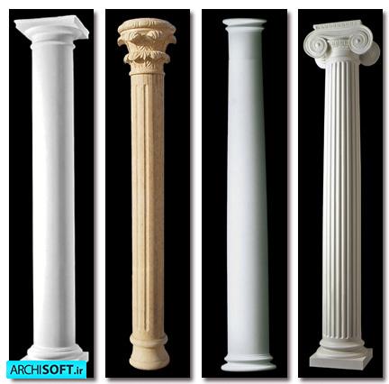 آبجکت تزئینات رومی اسکچاپ